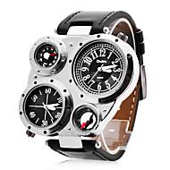 personlige fashionable herreur militær multifunktions dobbelte tidszoner kompas og termometer