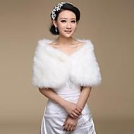 faux fur bryllup sjal (flere farger)