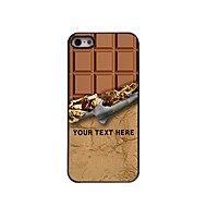 Personalized Phone Case - Sweet Chocolate Design Metal Case for iPhone 5/5S