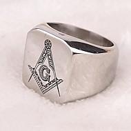 Z&X®  Punk Style Freemasonry Titanium Steel Men's Statement Ring Jewelry Christmas Gifts