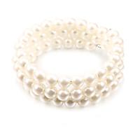 mode garn vit pärla sträng armband (1 st)