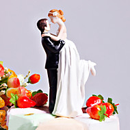 "Cake Toppers ""Love Swept"" Bride & Groom  Cake Topper"
