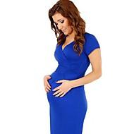 Maternity Wear Fashion Deep V-Neck Maternity Dress