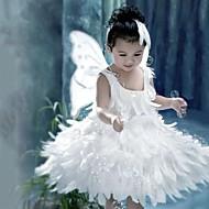 Szerepjáték Jelmezek Mikulás ruhák Fesztivál/ünnepek Mindszentek napi kösztümök Fehér Egyszínű Ruha / Szárnyak Karácsony Gyermek