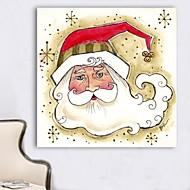Christmas Decoration Stretched Canvas Print Art Cartoon Santa by Beverly Johnston