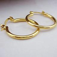 18K Golden Plated Circle Earrings
