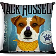 כותנה כלב ראסל שקע / כיסוי כרית נוי פשתן