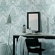 Wall Paper Wallcovering,  European Style High Foaming Damascus Non-woven Wall Paper