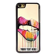 персонализированные телефон случае - губы дизайн металлический корпус для iPhone 5с