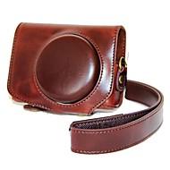 dengpin® retro aftagelig pu læder kamerataske taske cover med skulderrem til Canon PowerShot g7 x g7x