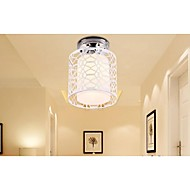 Wrought Iron Dome Light,Aisle Contemporary Contracted Style White Ceiling 1  Light, Lnner Cover is PVC,Outside Iron