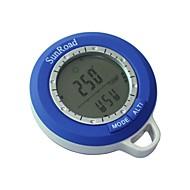 새로운 6 일 디지털 방수 LCD 나침반 고도계 기압계 온도계 시계 낚시
