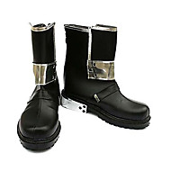 Sword Art Online Kirito Black PU Leather Cosplay Boots
