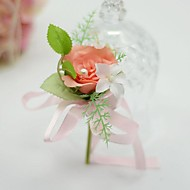 "Wedding Flowers Free-form Roses Boutonnieres Wedding / Party/ Evening Cotton / Silk 1.97""(Approx.5cm)"