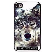 εξατομικευμένη περίπτωση του τηλεφώνου - παγόβουνου σχεδιασμό λύκος μεταλλική θήκη για iphone 4 / 4s