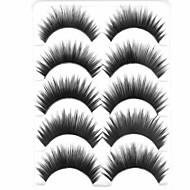 New 5 Pairs Natural Black Curled Long Thick False Eyelashes Soft Eyelash Eye Lashes for Eye Extensions