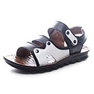 Boy's Sandals Spring / Summer Slide / Comfort / Open Toe Leather Flat Heel Magic Tape Black