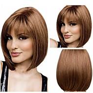 Women's Fashion Brown Short Hair Wig Scorpio Wig  with Full Bang