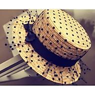 Women Chiffon Straw Hat , Vintage/Cute Summer