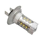 H7 Cree ledx16 80W 6500K -7000k valkoinen valo johtanut lamppu auton (12-24V, 1kpl)
