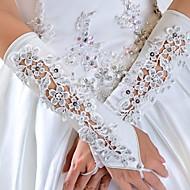 les perles mariée gants de mariage dentelles cousues