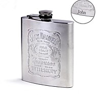 Personalized  Gift 7 oz Silver Stainless Steel Flask
