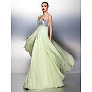Prom/Formal Evening Dress - Sage A-line Sweetheart Floor-length Chiffon