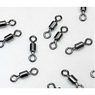 100PCS Stainless Steel 2468101214# Lure Swivel American Connecting Ring for Fishing Lines