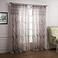 Two Panels  Graceful Barroco Style Paisley Sheer Curtains Drapes