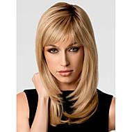 fashionable sød side bang Gloden medium længde krøllet syntetisk hår paryk
