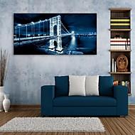 e-home® esticado levou efeito impressão da arte do flash ponte canvas liderada