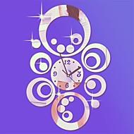 "20 ""h estilo moderno círculos redondos relógio diy 3d parede espelho acrílico"