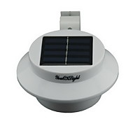 YouOKLight®  Waterproof 0.3W 40lm 3-LED  Warm/White Light Solar Powered Garden Wall Lamp - White