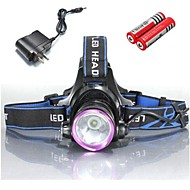 Lights Headlamps / Bike Lights LED 2000 Lumens 3 Mode Cree XM-L T6 18650 / 18350 Waterproof / Rechargeable / Impact Resistant