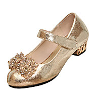 Girl's Shoes Wedding Shoes Comfort/Mary Jane/Round Toe Heels Wedding/Dress/Party & Evening Black/Gold