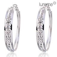 Lureme®5cm Claw Crystals Hoop Earrings