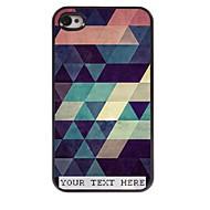 gepersonaliseerde telefoon geval - kleurrijke driehoek ontwerp metalen behuizing voor de iPhone 4 / 4s