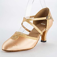 Modern Women's Sandals Satin Stiletto Heel Buckie Dance Shoes