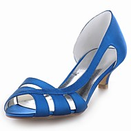 Women's Wedding Shoes Heels/Peep Toe Heels Wedding Black/Blue/Yellow/Pink/Purple/Red/Ivory/White/Silver/Champagne