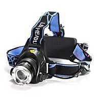 Lights Headlamps LED 1200 Lumens 3 Mode Cree XM-L T6 18650 Adjustable Focus / Waterproof / Rechargeable / Impact Resistant