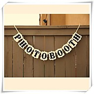Hochzeitsdekor Photo Booth banner Rezeption Zeichen Photo Booth Requisiten