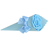 Favor Holders Wedding Bouquet Shaped Bow Pattern Kraft Candy Boxes Set Of 12(More Colors)