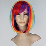 Women's Fashion Capless Short BOB Synthetic Multi-color Straight Hair Wig