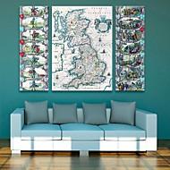 e-HOME lona envuelta mapa arte determinado de la pintura decorativa de 3