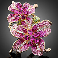 Statementringen Legering Kubieke Zirkonia Modieus verklaring Jewelry Schermkleur Sieraden Feest 1 stuks