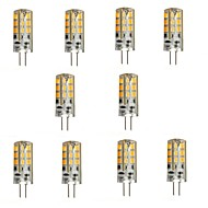 3W G4 LED Bi-pin Lights 24 SMD 2835 270 lm Warm White DC 12 V 10 pcs