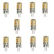 3W G4 Luminárias de LED  Duplo-Pin 24 SMD 2835 270 lm Branco Quente DC 12 V 10 pçs