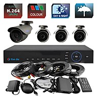 YanSe® 4CH 960H 1000TVL CCTV DVR Kit IR Color Waterproof Security Cameras System 6mm (66ft Cable) F278CF04