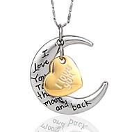 Jeg elsker dig til månen og tilbage igen halskæde til hjælpere høj quanlity sølv (tilfældig sølv kæde)