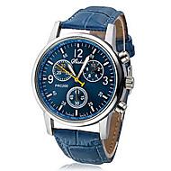 Masculino Relógio de Pulso Quartzo PU Banda Preta Branco Azul Branco Preto Azul